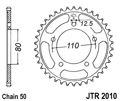 TRIUMPH TROPHY 1200 1991-04 REAR SPROCKET JT-2010-40t 42t